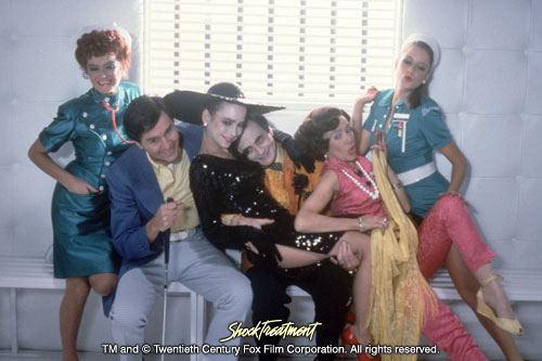 Shock Treatment Photo: Patricia Quinn, Manning Redwood, Jessica Harper, Barry Humphries, Darlene Johnson and Nell Campbell