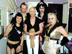 Members of the Sweet Ts with Richard O'Brien